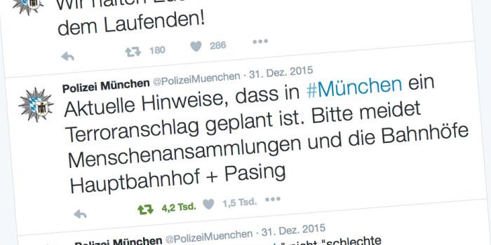 Terrorwarnung: Münchner Polizei nutzt soziale Medien zur Krisenkommunikation