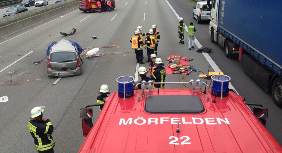 Tödlicher Verkehrsunfall auf der A5