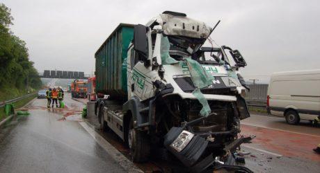 Langer Stau auf der A3 nach tödlichem Lkw-Unfall