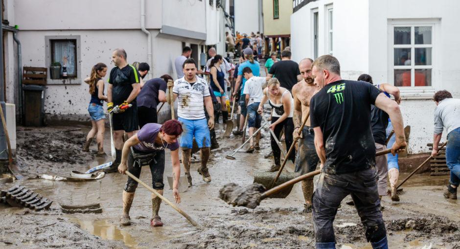 Kleinstadt Stromberg nach Unwetter von der Außenwelt abgeschnitten