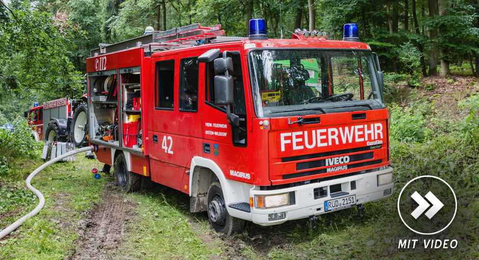 """Katastrophenschutzübung """"Waldbrand"""" in Idstein"""