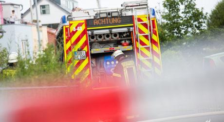 Gasleitung in Hattenheim durchgebaggert