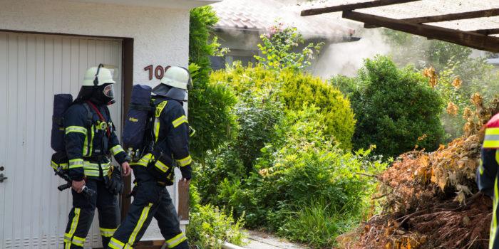 Kellerbrand in Einfamilienhaus