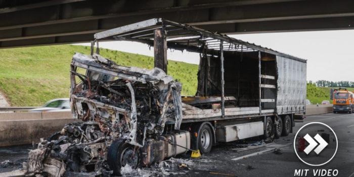 Tödlicher Lkw-Unfall auf der A60 bei Ginsheim-Gustavsburg