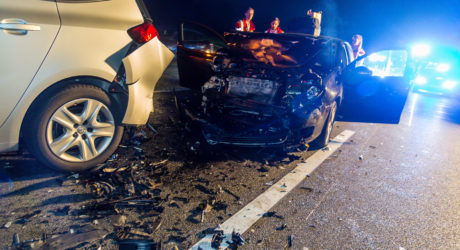 Drei Schwerverletzte bei Auffahrunfall auf der A66