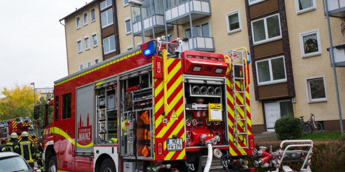 Küchenbrand im Schlesischen Viertel in Mainz