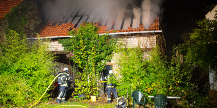 Scheunenbrand in Mörfelden-Walldorf
