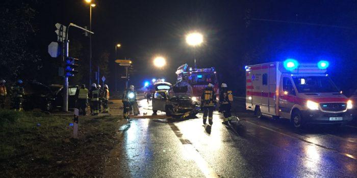 Vier Verletzte bei PKW-Unfall in Nauheim