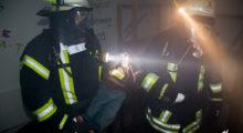 Länderübergreifende Alarmübung – Feuer im Kloster Schönau