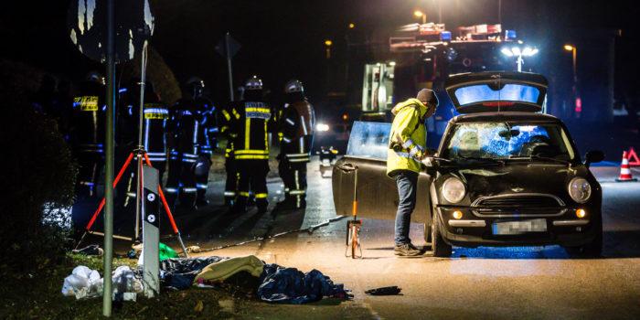 Zwei Touristen von Pkw erfasst – Tödlicher Verkehrsunfall in Hofheim-Diedenbergen