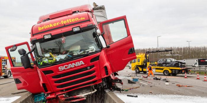 Zwei schwere Lkw-Unfälle auf der A3 – Drei Schwerverletzte und erhebliche Behinderungen