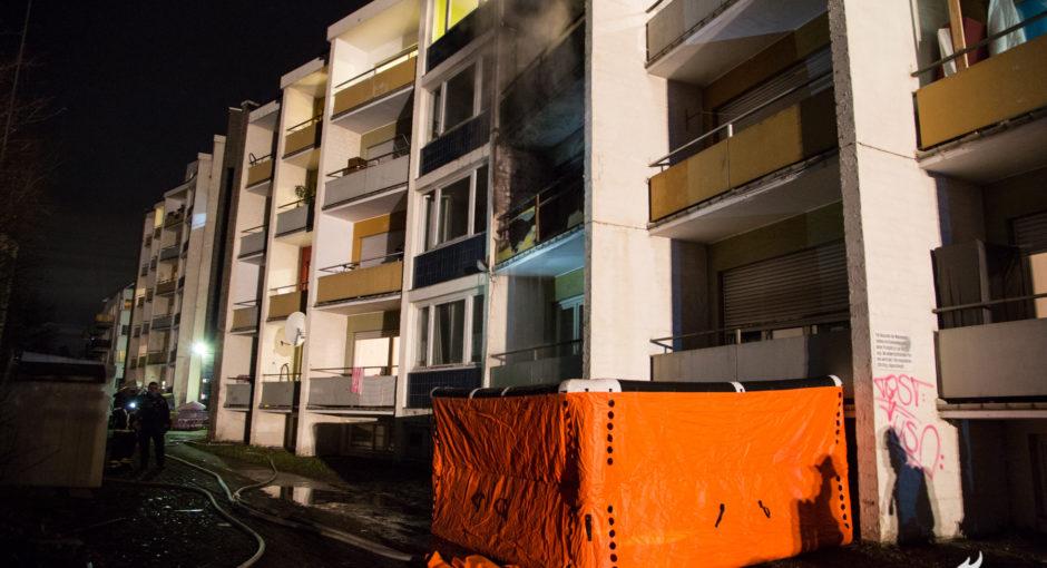 Fünf Verletzte bei Feuer in Flüchtlingsunterkunft in Bad Homburg