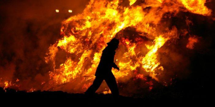 Schilffeld zwischen Ginsheim und Bauschheim in Flammen – Starke Rauchentwicklung