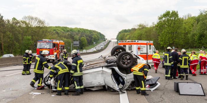 Drei Schwerverletzte bei Unfall auf der A5