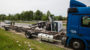 A3 bei Medenbach: Sprinter fährt auf Lkw auf und überschlägt sich