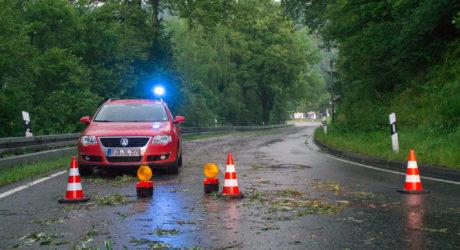 Unwetter bei Bad Schwalbach sorgt für viele Einsätze