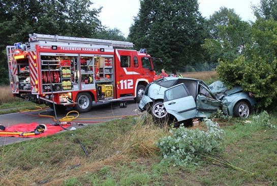 Tödlicher Verkehrsunfall zwischen Gernsheim und Hähnlein – Pkw prallt gegen Baum
