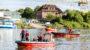 Suche nach Personen im Main – Wasserrettungseinsatz bei Kostheim
