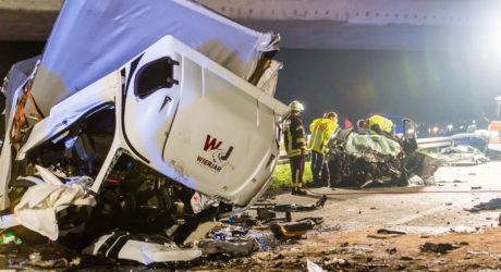 Drei Tote bei schwerem Unfall: Lkw als Geisterfahrer auf der A67 bei Rüsselsheim