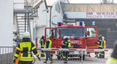 Schaumstoffblock in Brand geraten – Feuer durch Löschanlage gelöscht