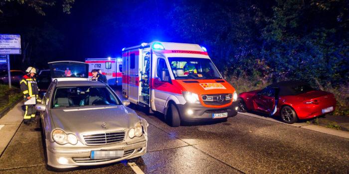 Vorfahrt missachtet: Drei Verletzte auf der B455 bei Bierstadt