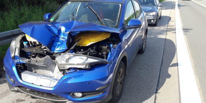 Rad überfliegt Mittelschutzplanke – Spektakulärer Verkehrsunfall auf der A3 bei Idstein