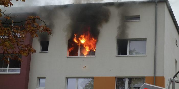 Ein Verletzter bei Küchenbrand in Schierstein