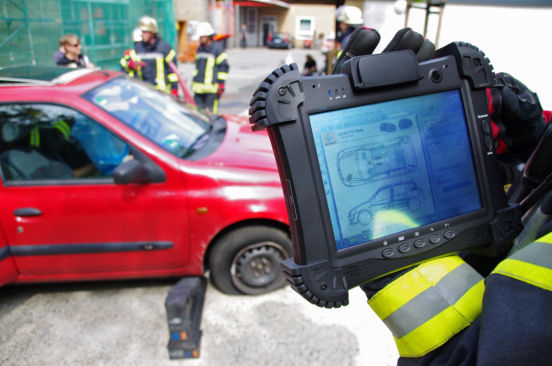 Die Rettungskarte Standardisierte Fahrzeuginformationen Für
