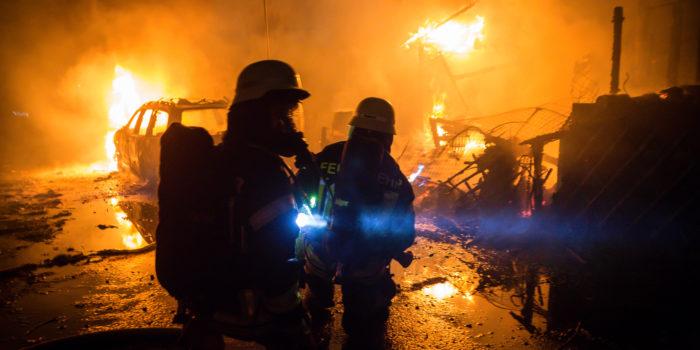Todesopfer bei Feuer auf Campingplatz in der Silvesternacht