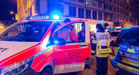 Fünf Verletzte bei nächtlichem Küchenbrand in der Wiesbadener Innenstadt
