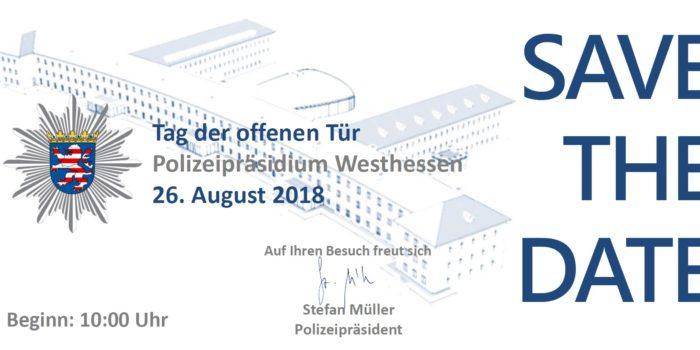 Save the Date: Tag der offenen Tür im Polizeipräsidium Westhessen am 26. August