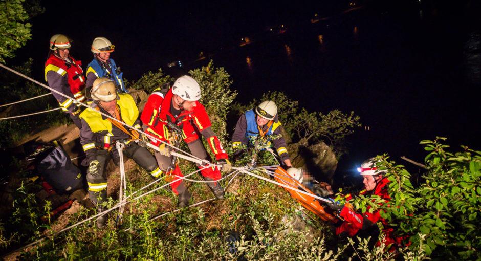 Aufwändige Rettungsaktion nach missglücktem Foto auf der Loreley – 31-Jähriger stürzt in die Tiefe