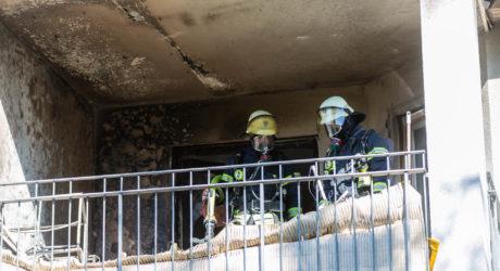 Gartenmöbel brennen – Balkonbrand in Erbenheim