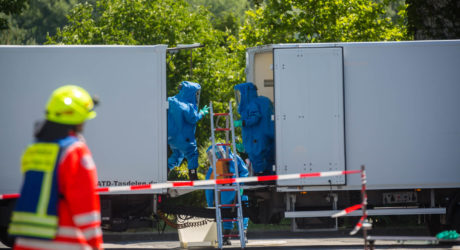 Schwefelsäure tritt an Spedition in Nieder-Olm aus