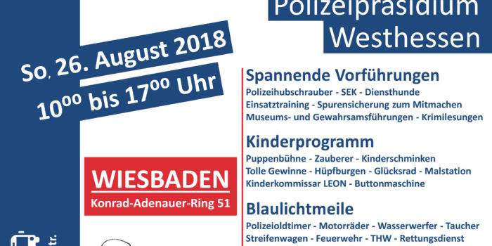 Tag der offenen Tür am 26. August beim Polizeipräsidium Westhessen
