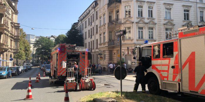Feuerwehreinsatz in der Innenstadt wegen brennendem WC-Lüfter