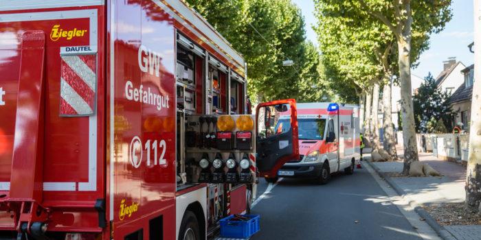 Zwei Verletzte durch auslaufende Reinigungsmittel in Friedrichsdorf
