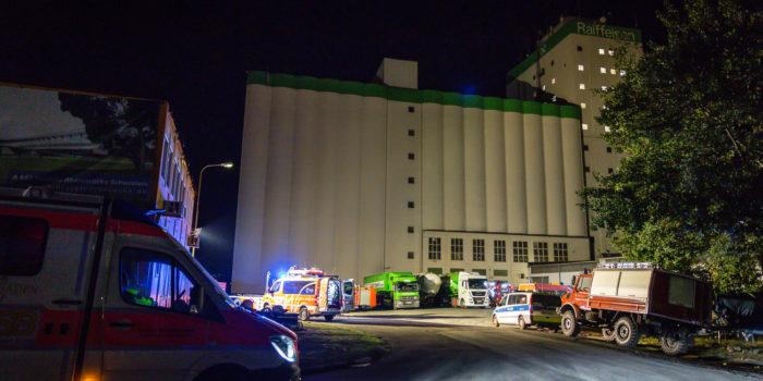 Anlagenbrand im Raiffeisen-Kraftfutterwerk in Schierstein