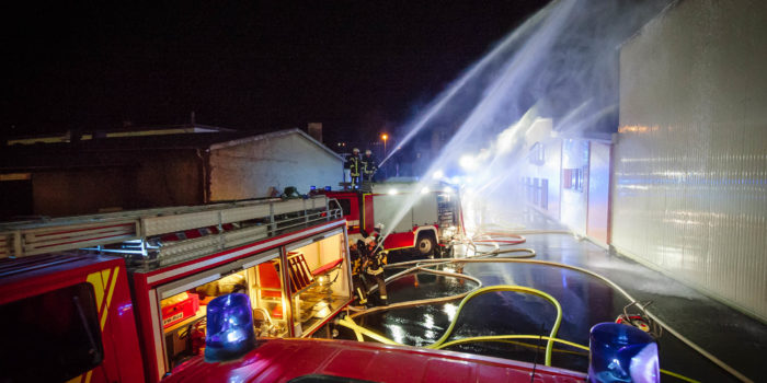 Großübung in Rüdesheim – Feuer in Sektkellerei