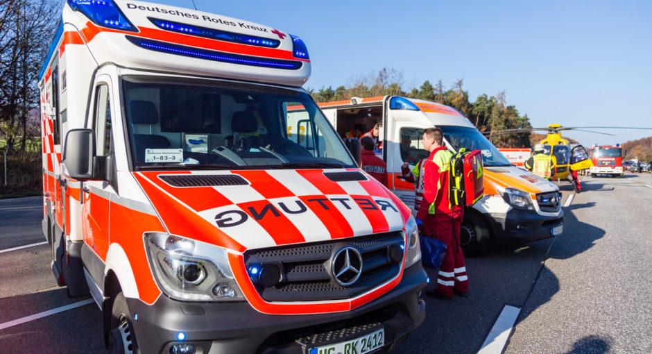 Fünf Schwerverletzte nach Unfall auf der A5