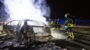 Pkw brennt auf A3 aus – Sechs Folgeunfälle im Rückstau