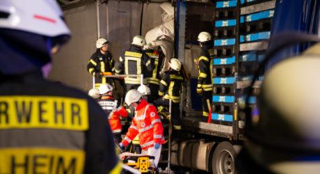 A 63 – Autobahn nach LKW-Unfall bei Saulheim voll gesperrt