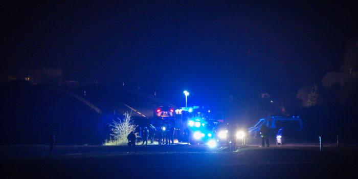 Großer Polizeieinsatz nach Schüssen auf der L3028 bei Delkenheim