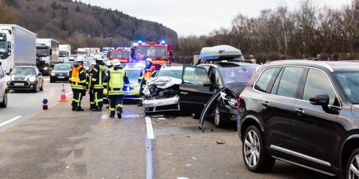 Drei Verkehrsunfälle beschäftigten die Rettungskräfte auf der A3