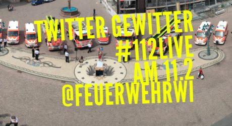 """Twittergewitter am """"Europäischen Tag des Notrufs"""" – #112live mit der Feuerwehr Wiesbaden"""
