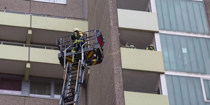Küchenbrand in Hattersheimer Hochhaus