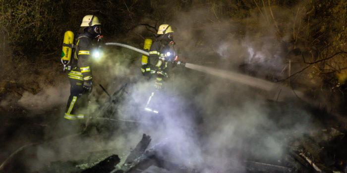 Zwei Gartenhüttenbrände bei Heßloch