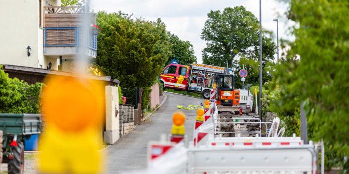 Phosphorbombe wird bei Bauarbeiten in Presberg angebaggert