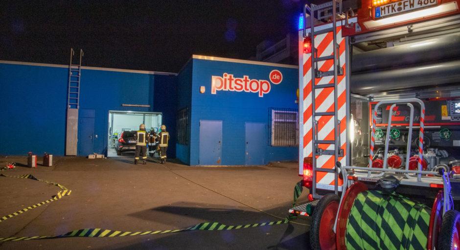 Brand in Eschborner Werkstatt