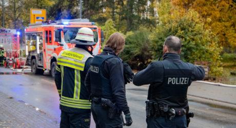 Brandstiftung in leerstehendem Bürokomplex in Wiesbaden